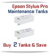 2 - Compatible Maintenance Tank for EPSON Stylus Pro Printers