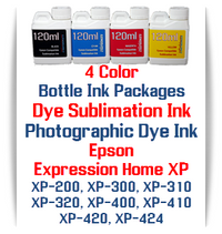 4 Color Bottle Ink - Epson Expression Home XP-200, XP-300, XP-310, XP-400, XP-410 printers
