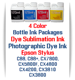 4 Color Bottle Ink - Epson Stylus C88, C88+,CX7800, CX5800F, CX4800, CX4200, CX3810, CX3800