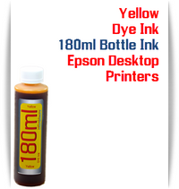 Yellow 180ml Bottle Dye Ink for Epson Small all in one Desktop Printers