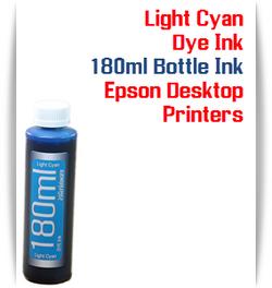Light Cyan 180ml Bottle Dye Ink for Epson Small all in one Desktop Printers