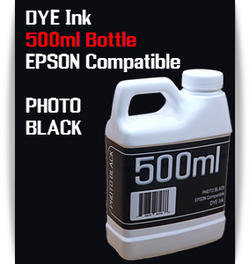 Photo Black 500ml Dye Bottle Ink Epson Stylus Pro Printers
