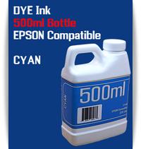Cyan 500ml Dye Bottle Ink Epson Stylus Pro Printers