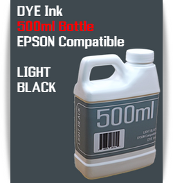 Light Black 500ml Dye Bottle Ink Epson Stylus Pro Printers