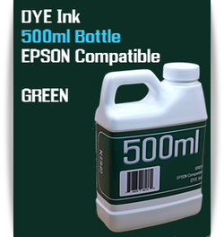 Green 500ml Dye Bottle Ink Epson Stylus Pro Printers