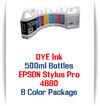 8 Color Package 500ml Bottle DYE Ink Epson Stylus Pro 4880