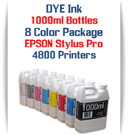 8 Color Package 1000ml Bottle DYE Ink Epson Stylus Pro 4800 printer