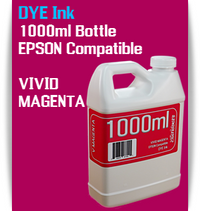 Vivid Magenta 1000ml Dye Bottle Ink Epson Stylus Pro Printers