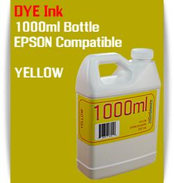Yellow 1000ml Dye Bottle Ink Epson Stylus Pro Printers