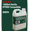 Green 1000ml Dye Bottle Ink Epson Stylus Pro Printers