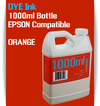 Orange 1000ml Dye Bottle Ink Epson Stylus Pro Printers