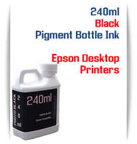 Black 240ml Pigment Bottle Ink Epson All in One Desktop Printers