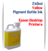 Yellow 240ml Pigment Bottle Ink Epson All in One Desktop Printers