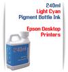 Light Cyan 240ml Pigment Bottle Ink Epson All in One Desktop Printers