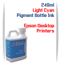 Light Cyan 240ml Pigment Bottle Ink Epson All in One Desktop Printers