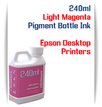 Light Magenta 240ml Pigment Bottle Ink Epson All in One Desktop Printers