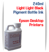Light Light Black 240ml Pigment Bottle Ink Epson All in One Desktop Printers