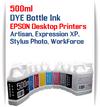 500ml Dye Bottle Ink Epson Desktop All in One Printers