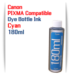 1 180ml Bottle Cyan Dye Ink