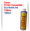 1 180ml Bottle Yellow Dye Ink