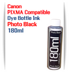 1 180ml Bottle Photo Black Dye Ink
