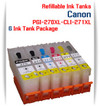 6 Refillable Ink Tank Package PGI-270XL, CLI-271XL Canon Pixma