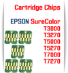 Chips EPSON SureColor T-Series Refillable Printer Ink Cartridge Chips  EPSON SureColor T3000, T5000, T7000, T3270, T5270, T7270, T5270D, T7270D