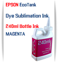 Magenta EPSON EcoTank 240ml Dye Sublimation Bottle Ink
