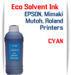 Cyan Eco Solvent Ink 1000ml bottle ink - EPSON, Roland, Mimaki, Mutoh printers