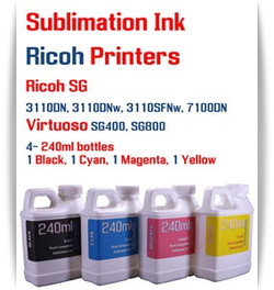 RICOH 4 Color 240ml Sublimation Ink