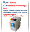 RICOH GC-31 - 4 Color Refillable Ink Cartridges