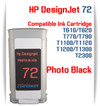 Photo Black HP 72 Compatible Ink Cartridges 130ML