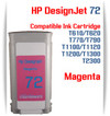 Magenta HP 72 Compatible Ink Cartridges 130ML