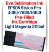 Light Magenta  Epson Stylus Pro 4000, 7600, 9600 printer Dye Sublimation Ink Cartridge 220ml