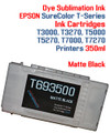 Matte Black  EPSON SureColor T-Series Compatible Dye Sublimation ink Cartridge 350ml