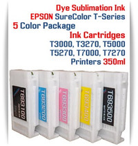 5 - EPSON SureColor T-Series Compatible Dye Sublimation ink Cartridges 350ml