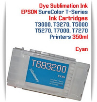 Cyan EPSON SureColor T-Series Compatible Dye Sublimation ink Cartridge 350ml