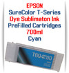 Cyan T694200 EPSON SureColor T-Series Compatible Dye Sublimation ink Cartridge 700ml
