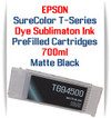 Matte Black T694500 EPSON SureColor T-Series Compatible Dye Sublimation ink Cartridge 700ml