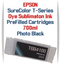 Photo Black T694100 EPSON SureColor T-Series Compatible Dye Sublimation ink Cartridge 700ml