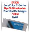 Cyan T694200 EPSON SureColor T-Series Compatible Dye Sublimation ink Cartridge 700ml
