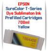Yellow T694400 EPSON SureColor T-Series Compatible Dye Sublimation ink Cartridge 700ml