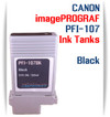 PFI-107BK Black Canon imagePROGRAF Compatible Dye Printer Ink Tank 130ml