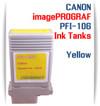 Yellow PFI-106 Canon imagePROGRAF Compatible Pigment Ink Tanks 130ml