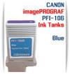 Blue PFI-106 Canon imagePROGRAF Compatible Pigment Ink Tanks 130ml