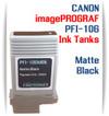 Matte Black PFI-106 Canon imagePROGRAF Compatible Pigment Ink Tanks 130ml