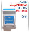 Cyan PFI-106 Canon imagePROGRAF Compatible Pigment Ink Tanks 130ml