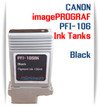 Black PFI-106 Canon imagePROGRAF Compatible Pigment Ink Tanks 130ml