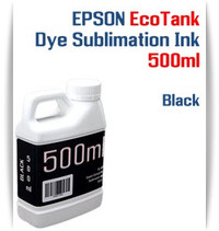 Black EPSON EcoTank printer Dye Sublimation Ink 500ml bottle  EPSON Expression ET-2500 EcoTank Printer, EPSON Expression ET-2550 EcoTank Printer, EPSON Expression ET-2600 EcoTank Printer, EPSON Expression ET-2650 EcoTank Printer, EPSON Expression ET-2700 EcoTank Printer, EPSON Expression ET-2750 EcoTank Printer, EPSON Expression ET-3600 EcoTank Printer, EPSON Expression ET-3700 EcoTank Printer  EPSON WorkForce ET-3750 EcoTank Printer, EPSON WorkForce ET-4500 EcoTank Printer, EPSON WorkForce ET-4550 EcoTank Printer, EPSON WorkForce ET-4750 EcoTank Printer, EPSON WorkForce ET-16500 EcoTank Printer