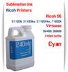 Cyan RICOH 240ml bottle Sublimation Ink   Ricoh SG 3110DN 3110DNw 3110SFNw 7100DN printers  Virtuoso SG400, SG800 printers